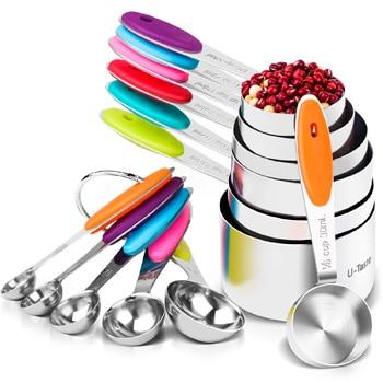 U-Taste - 12 Tazas y cucharas medidoras (cups americanas)